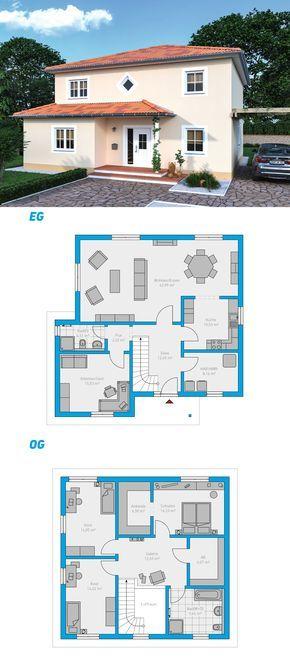 Edita 175 - schlüsselfertiges Massivhaus 2-geschossig #spektralhaus #ingutenwänden #2geschossig #Grundriss #Hausbau #Massivhaus #Steinmassivhaus #Steinhaus #schlüsselfertig #neubau #eigenheim #traumhaus #ausbauhaus
