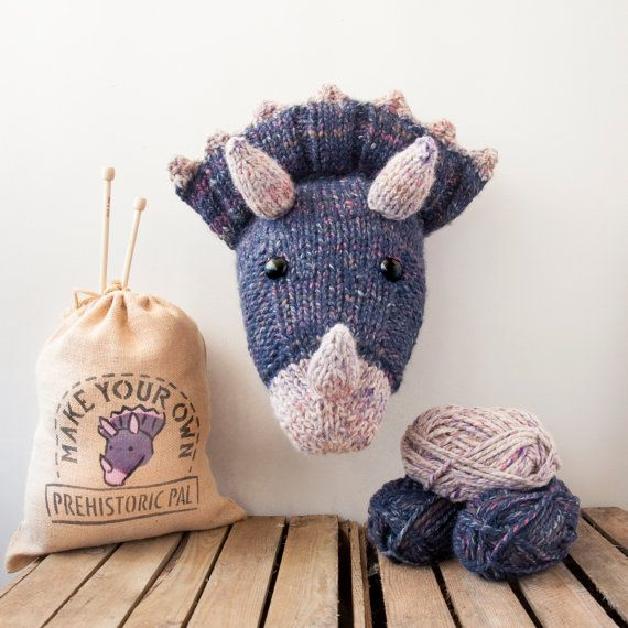 Faux Triceratops Knitting Kit  Make Your Own by sincerelylouise