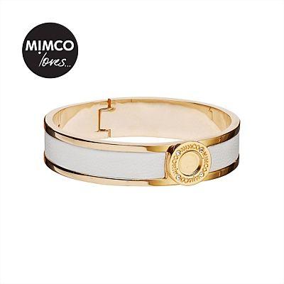 Narrow Hinged Cuff (white) #mimcomuse