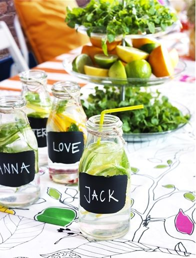 Take a lick of blackboard or chalkboard paint and turn your ENSIDIG vases into creative personalized drinks!
