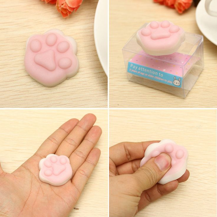 Mochi Cat Claw Squishy Squeeze Cute Healing Toy Kawaii Collection Stress Reliever Gift Decor