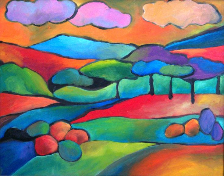 Tranquil Fields - warm/cool lesson plan reminder