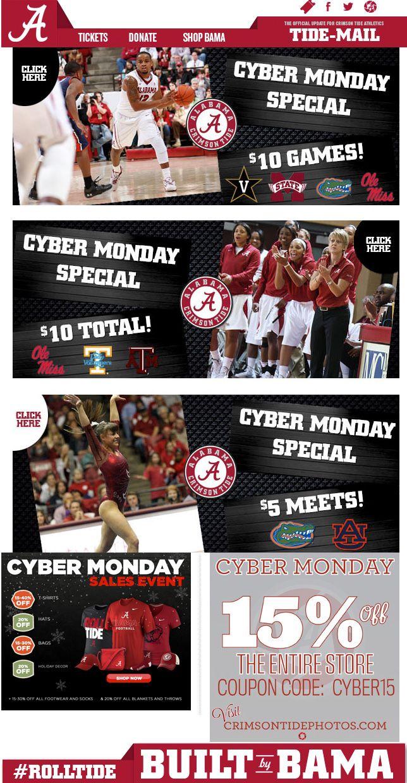 University of Alabama - Cyber Monday ticket deals