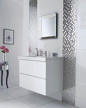 Slate Silver Square Mosaic Tile   Topps Tiles