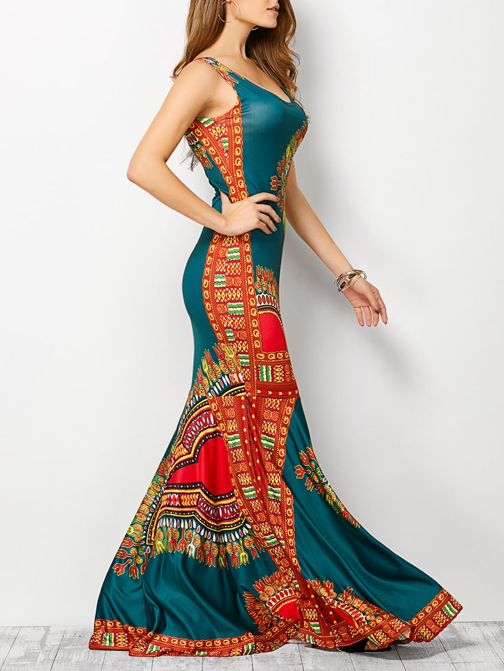 Love the colors in this dress.  A not so tight version
