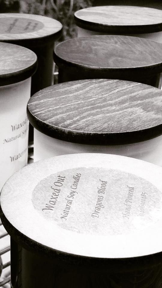 Waxed Out Wooden Lids ..... Looking Fab  http://www.facebook.com/Perfect.scentz