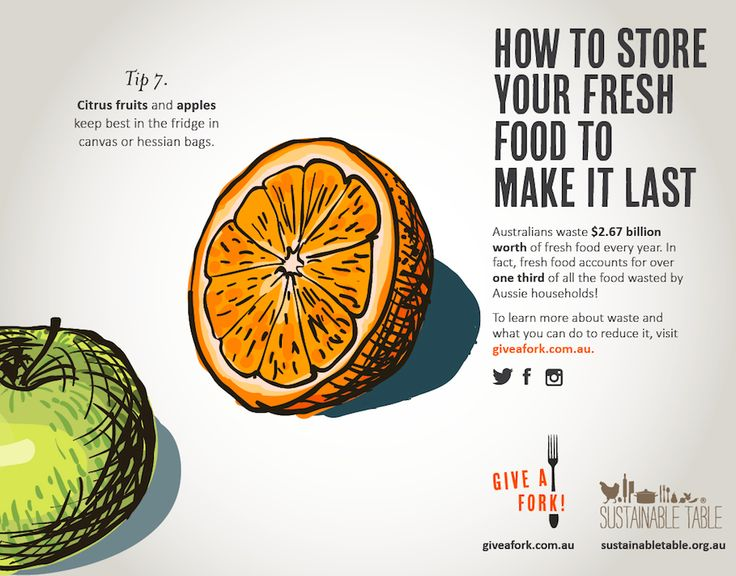 Tips for reducing food waste - citrus fruits and apples