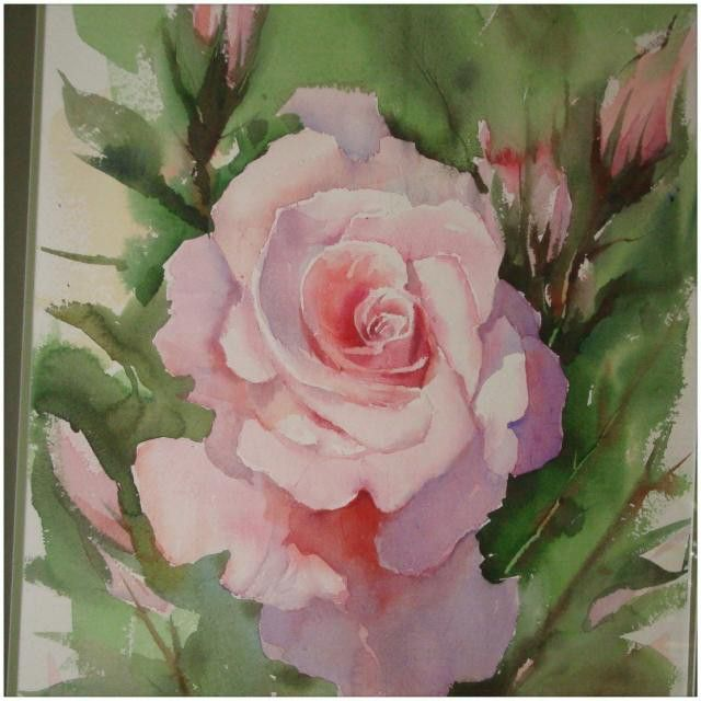 This is one of my favorite floral #paintings. I call it #longstemrose. If is still #available. Take your pick. #original, #print or #handembellishedprint. And don't forget to #follow us @nadia_art_gallery.