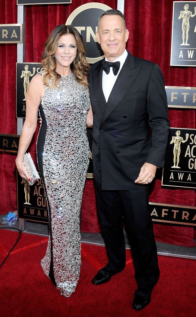Tom Hanks & Rita Wilson from 2014 SAG Awards: Red Carpet Arrivals | E! Online
