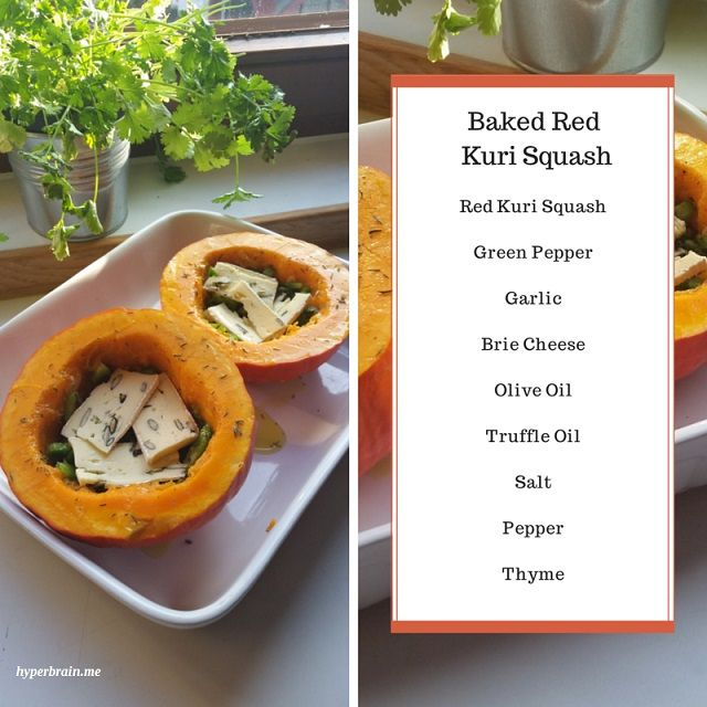 Baked Red Kuri Squash recipe http://hyperbrain.me/index.php/17-baked-red-kuri-squash-ugnsbakad-hokkaidopumpa