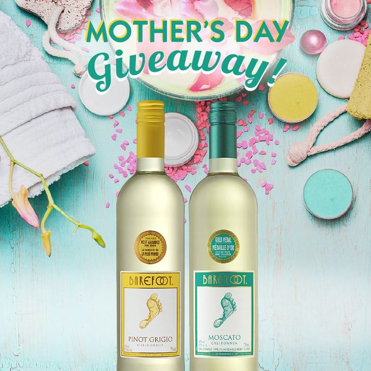 Barefoot Wine Canada Contest  Enter our Mother's Day Giveaway for a chance to spoil Mom with the ultimate spa day!