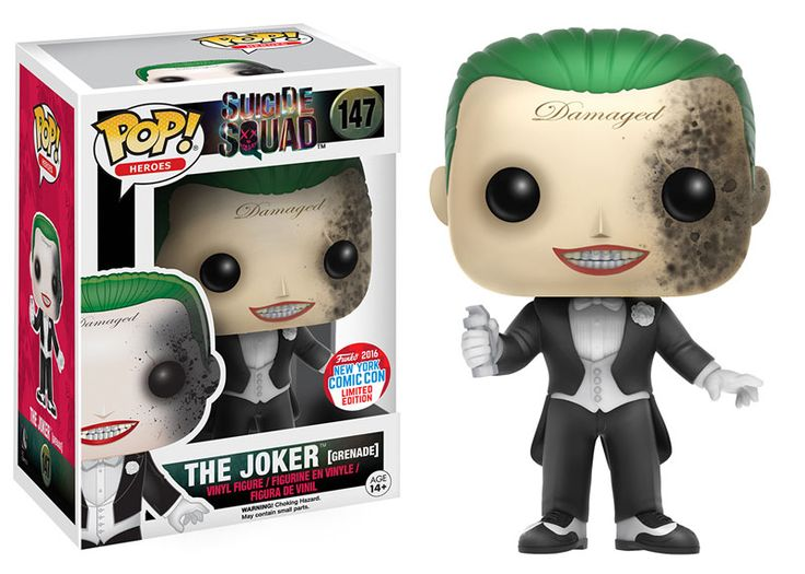 NYCC 2016 Wave 2 - Pop! Heroes: Suicide Squad - Joker (Grenade Damage)