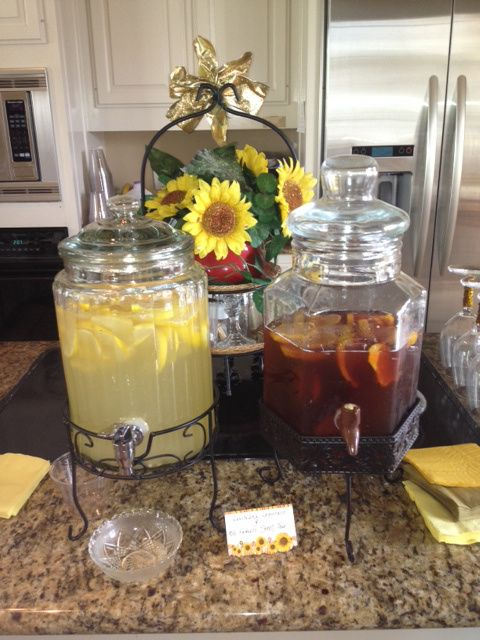 A Southern Sunflower Bridal Shower! For more inspiration, visit http://twobellesevents.wordpress.com/2012/10/15/a-southern-sunflower-filled-affair/