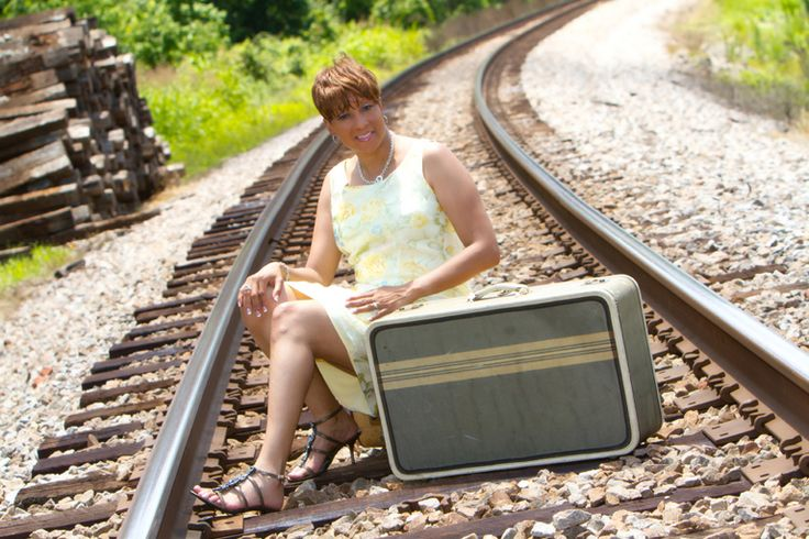"""Train Tracks- pack your bags"" by Portrait Creations located in South, Charlotte, NC."