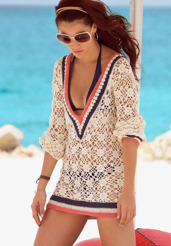 Fashion Book Cover Ups : Crochet detail summer cover up her high fashion knits