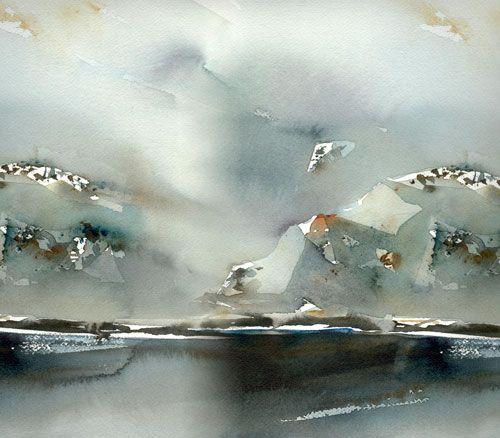 "lena amstrand akvareller | Fjord"" by Lena Amstrand."