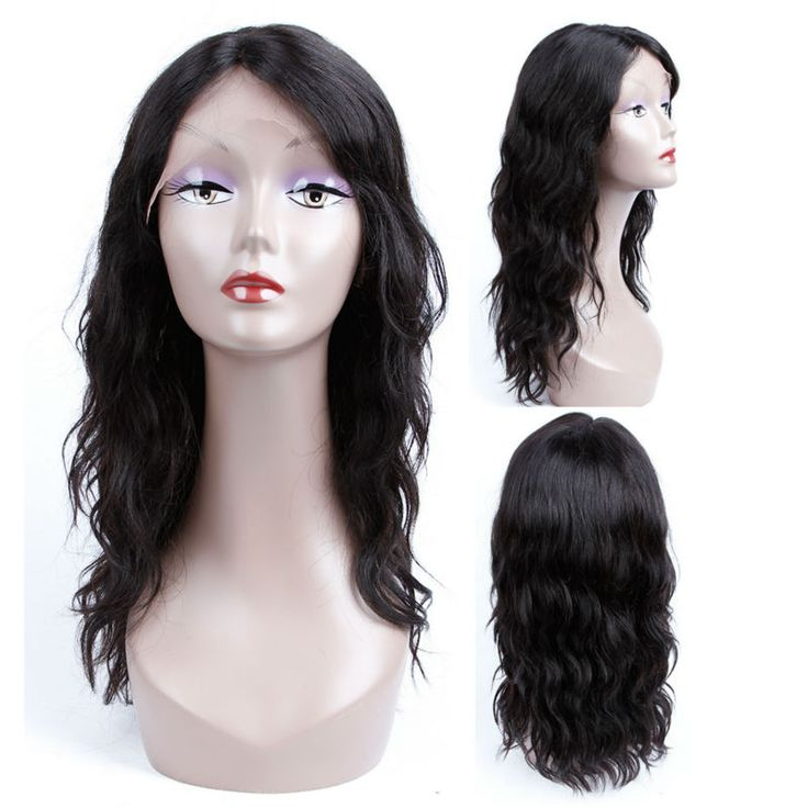 2017 Hot sale Natural Wave Glueless Lace Front Wig wet and wavy Brazilian Virgin Hair With Baby Hair U Part Wig For Black Women