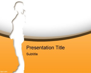 Free Anatomy PowerPoint presentation template with orange color and white background