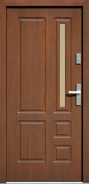 Drewniane wejściowe drzwi zewnętrzne do domu z katalogu modeli klasycznych wzór 590s4
