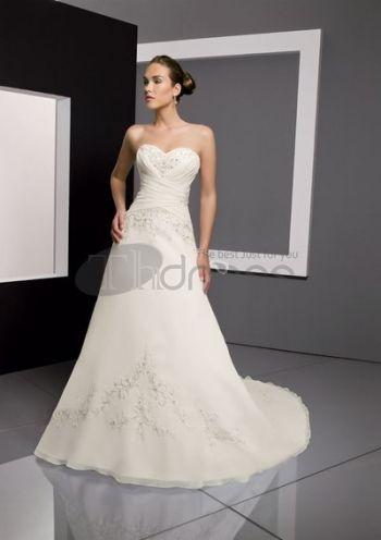Abiti da Sposa Senza Spalline-Casuali luminoso a-line abiti da sposa senza spalline