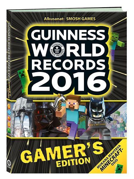 Guinness World Records 2016 Gamer's Edition kokoaa yhteen pelimaailman huikeimmat ennätykset! Kirjasta löytyy myös pelisuunnittelijoiden ja asiantuntijoiden haastatteluja sekä huippumielenkiintoista tietoa peleistä ja peliteknologian keskeisistä edistysaskeleista. Mukana Minecraft, Assassin's Creed, The Legend of Zelda ja muut suosikkipelit! 216 sivua.