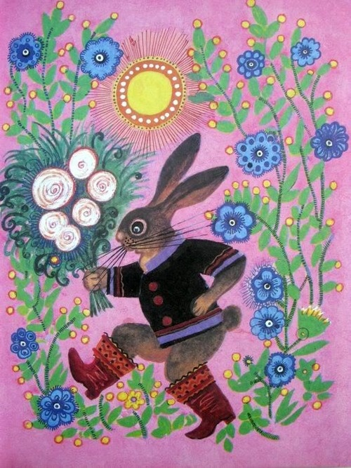 Yuri Vasnetsov, Rabbit on a Walk.