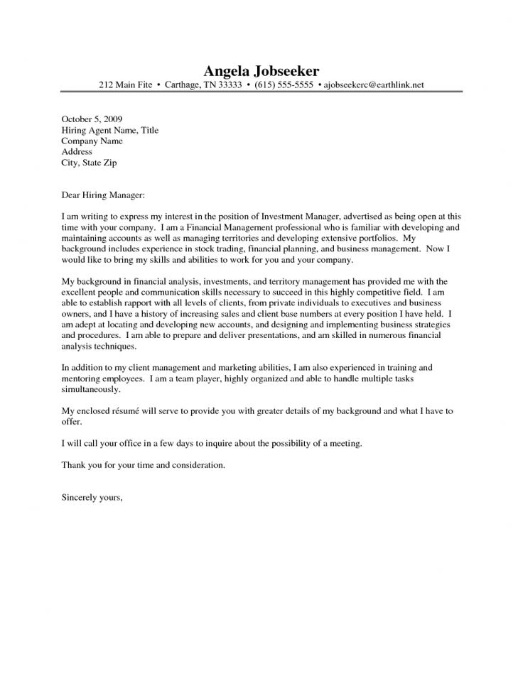 17 best ideas about sample of cover letter on pinterest