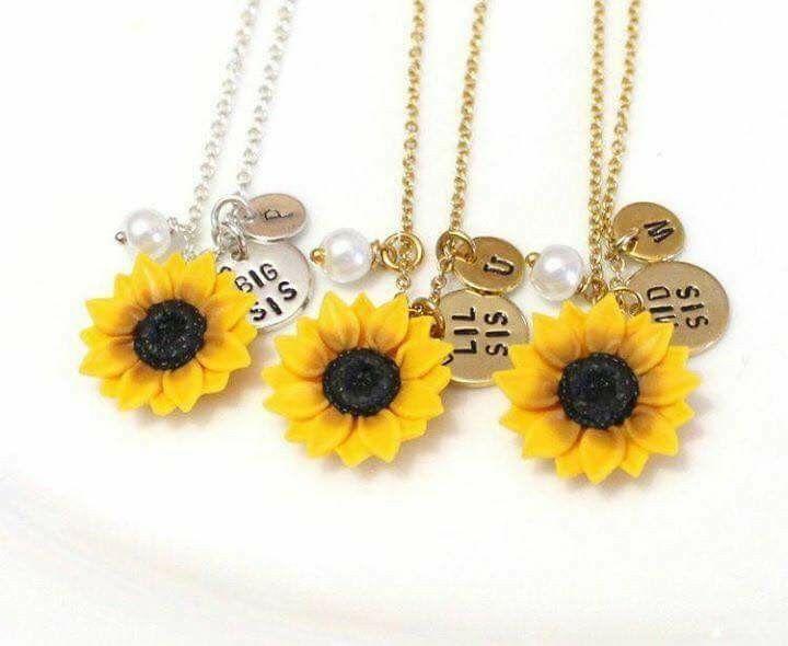 301a59789a43 girasoles #amarillo #collar #dije | porcelana fria | Collares ...