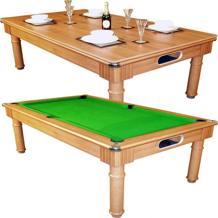 Vienna English Pool Table Converts To A Dining Room Table. So Smart!