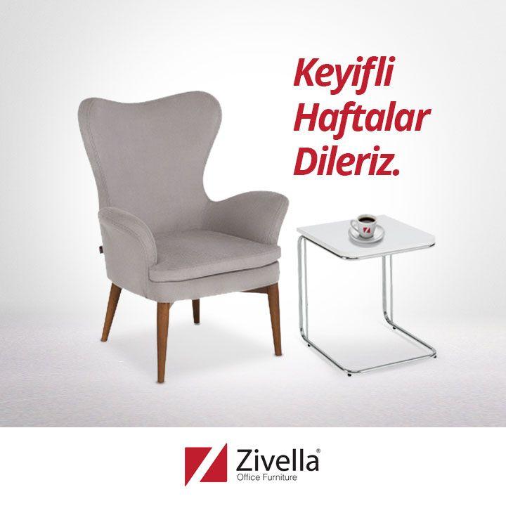 Kahvenizi yudumlarken Zivella'nın konforunu yaşayacağınız keyifli bir hafta dileriz. #goodweeks #officefurniture