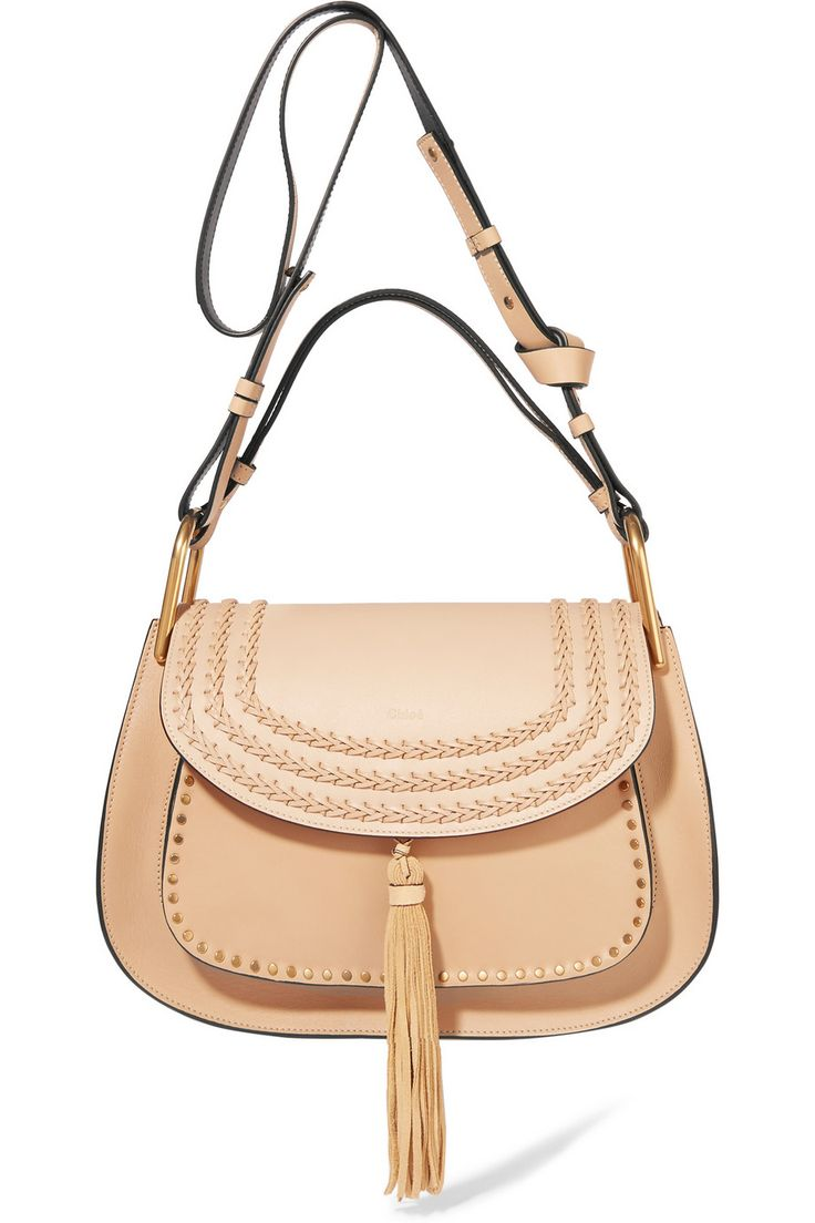 Chloé | Hudson medium whipstitched leather shoulder bag | NET-A-PORTER.COM