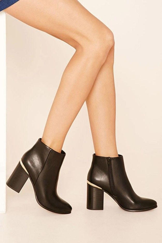 Polished faux leather ankle booties that may very well become your go-to pair.
