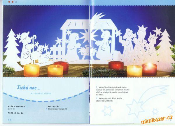 papírové filigrány vánoční a zimní vystřihovánky dohromady 12 vzorů