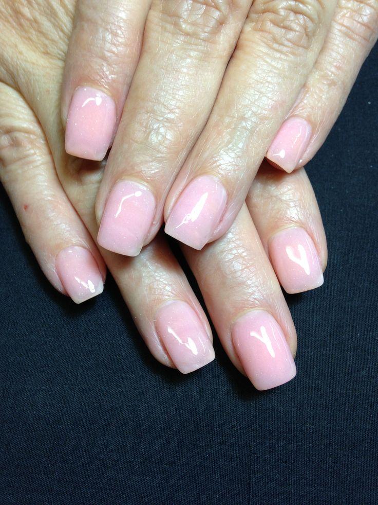 Plain pink nails | Acrylic nail designs | Pinterest | Pink ...