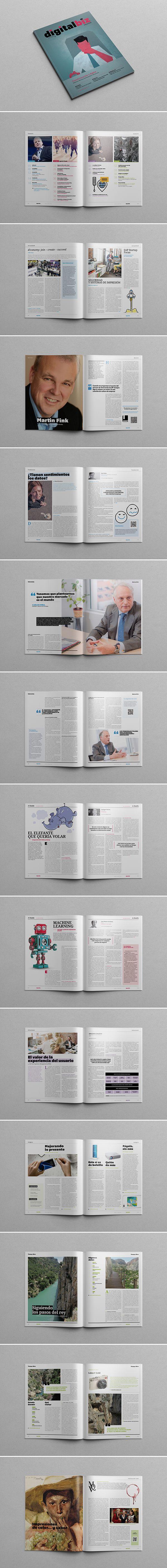 """Diseño editorial y dirección artística de la revista """"Digital Biz"""", centrada en el ámbito de la empresa y, más concretamente, en aquello que afecta a los procesos de negocio y las soluciones tecnológicas."""