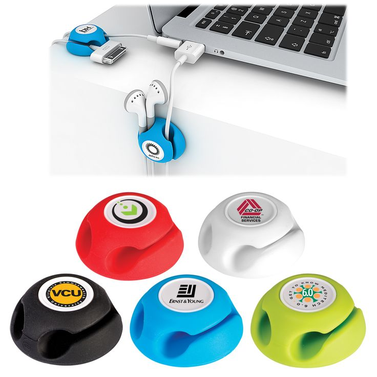 Gumbite® Clippi Cable Organizer, a Prime Line® exclusive! Silicone cable organizer. Holds cables in place at home, in the office, or in your car. Adhesive backing secures to desk, monitor, dashboard or other surfaces.