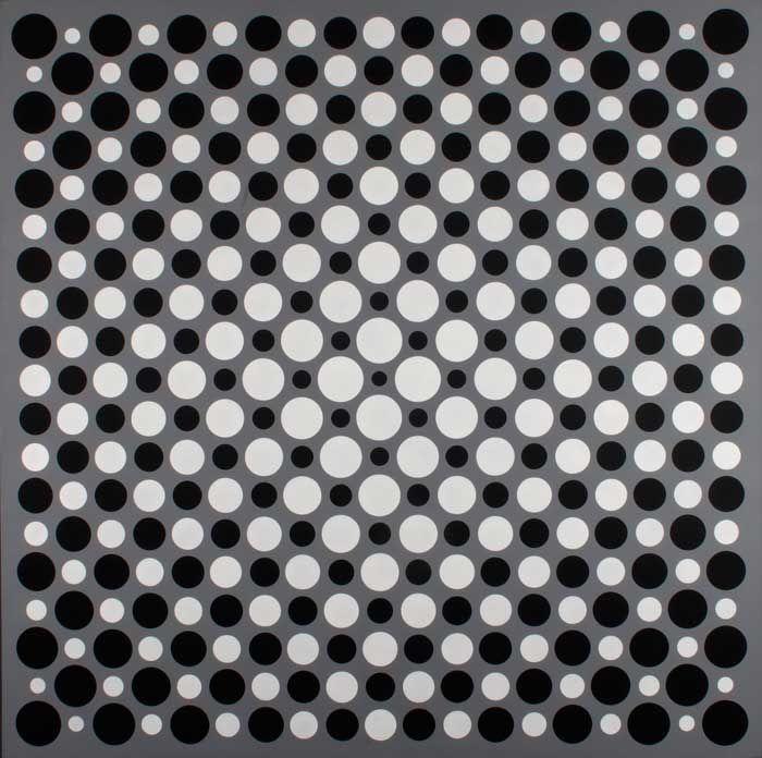 Julio Le Parc - Séquences ambivalentes- Acrylique sur toile - 200 x 200 Cm - 1959 - 1991