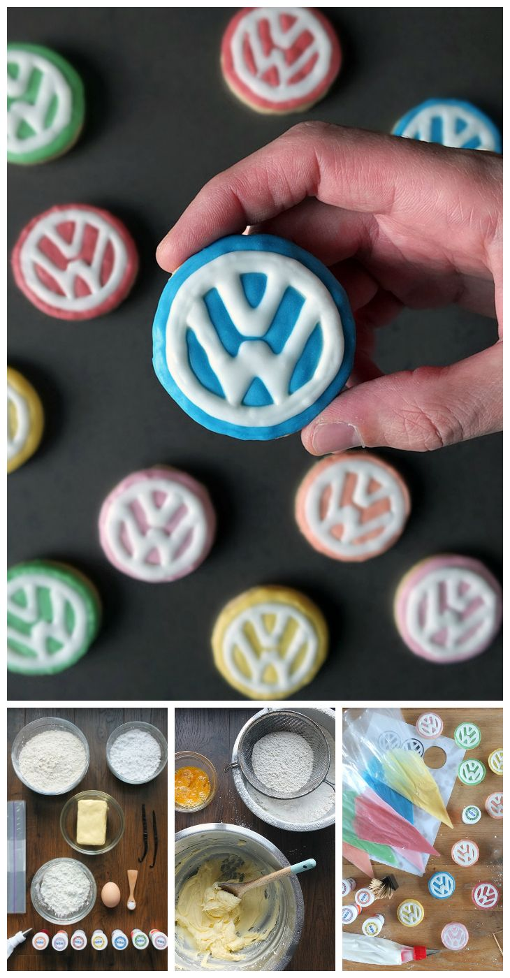 This Volkswagen logo sugar cookie recipe is the perfect gift for the Volkswagen enthusiast in your life! Wrap in cellophane, tie in a ribbon and gift! Check out the 'Food Bloggers for Volkswagen' board for more creative travel themed recipe ideas.