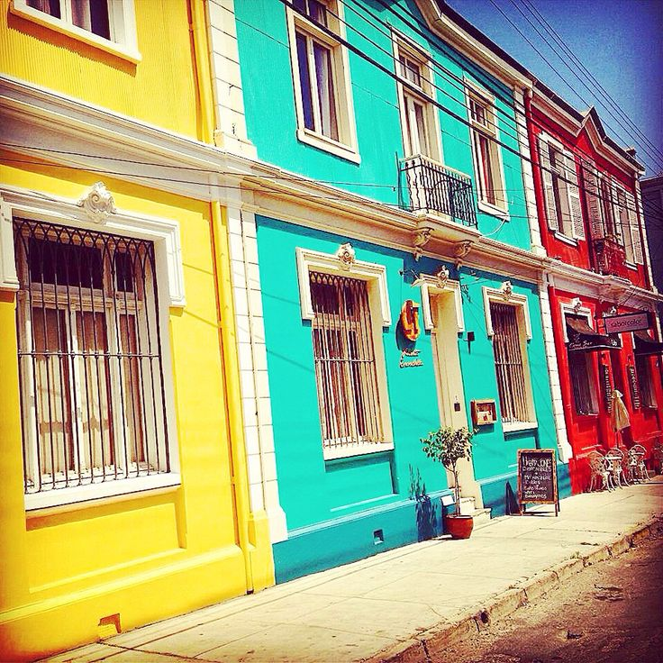 Color houses. Valparaíso. Chile