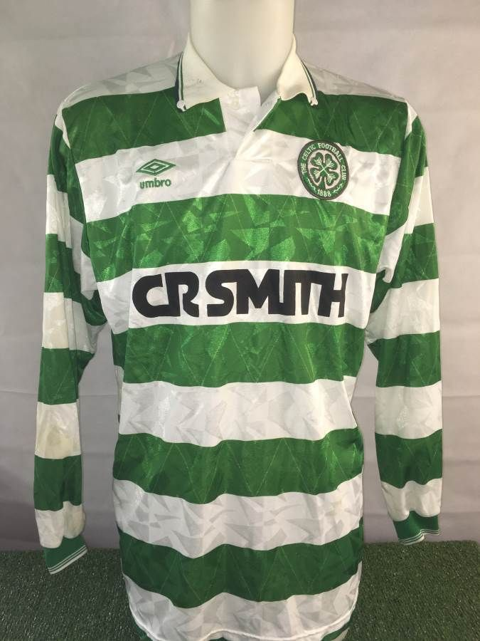 John Collins Match Worn Celtic Home Shirt - Scotland Football Memorabilia
