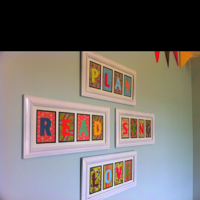 Artwork for kid's playroom.