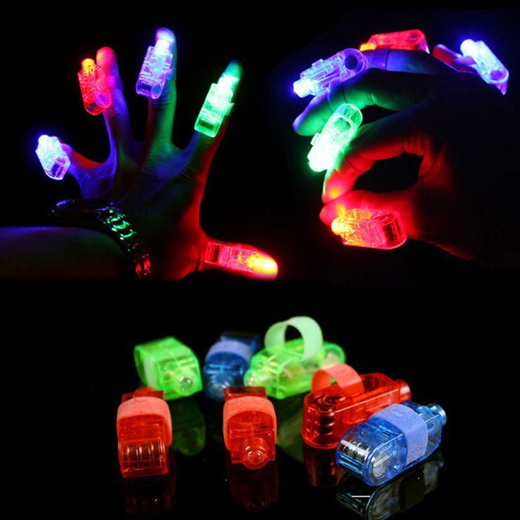 1000 Pçs/lote Dedo Luzes LED 4 Cores Brilhantes Deslumbrar Laser Emitindo Lâmpadas para Festival Do Casamento Do Natal Do Partido Por Atacado em Fontes Do Partido brilho de Home & Garden no AliExpress.com | Alibaba Group