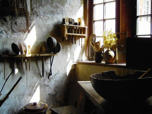 I love the rustic kitchens.