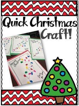 Quick Christmas Activity in English & Spanish