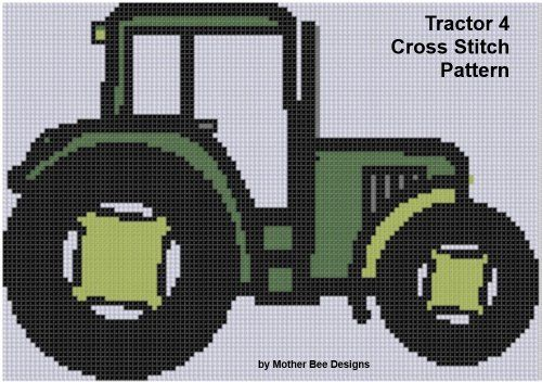 Amazon.com: Tractor 4 Cross Stitch Pattern eBook: Mother Bee Designs: Kindle Store