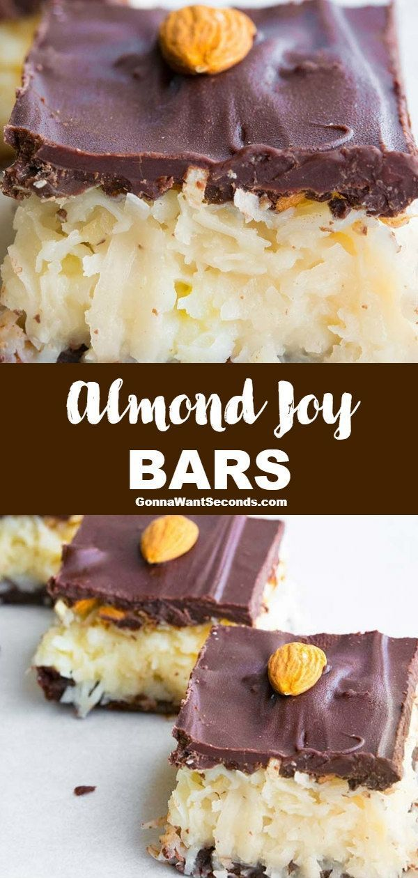*NEW* Almond Joy Bars bring the iconic sweet chewy coconut center of the candy b…