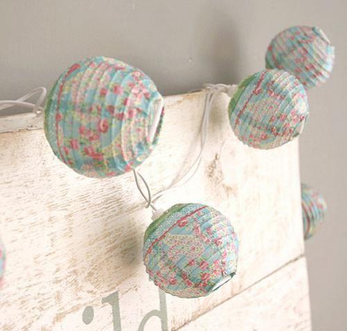 Guirnaldas de tela para la decoraci n de la habitaci n del - Guirnaldas de tela ...