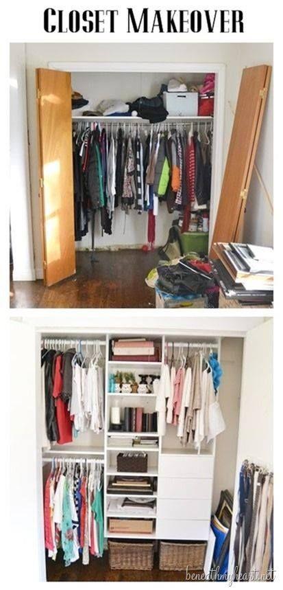 Ideas para organizar mi closet interior organizadores - Como organizar un armario empotrado pequeno ...
