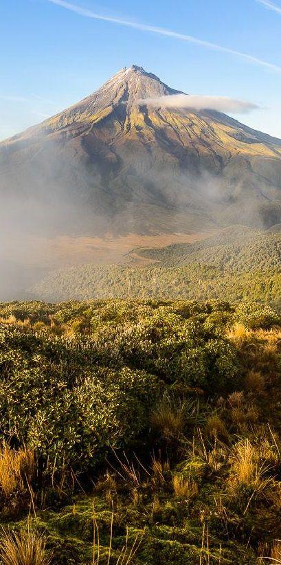 Mt Egmont shot from the Pouakai Range, Egmont National Park, NZ