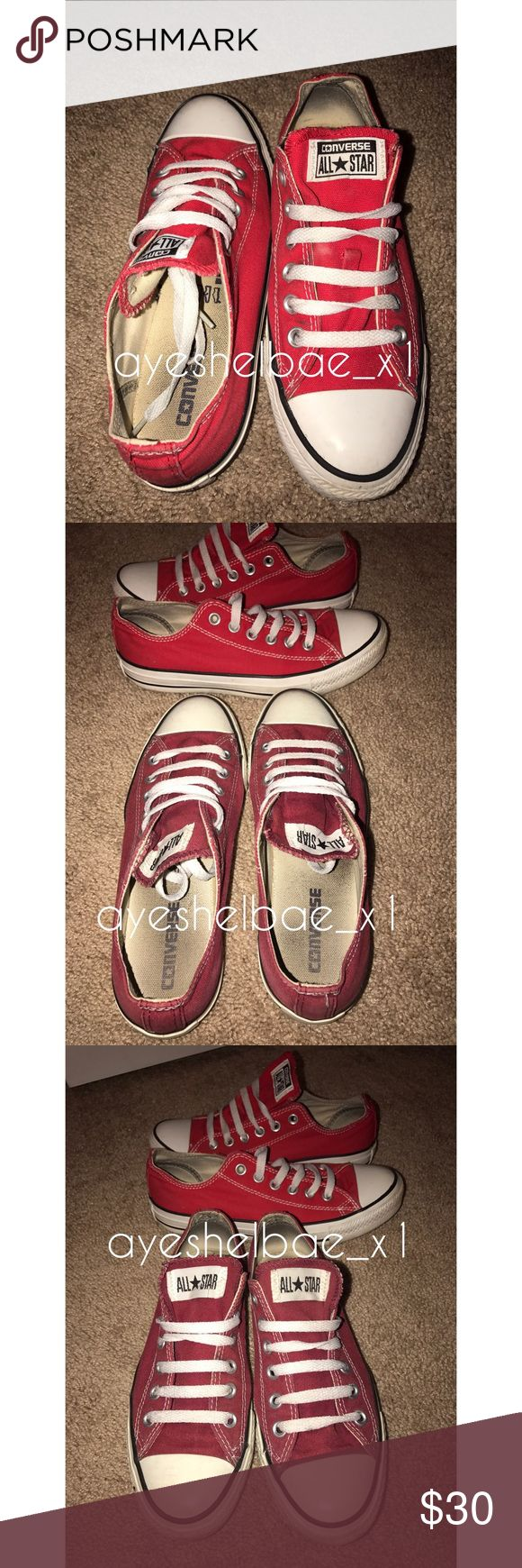 All Star Converse Bundle Condition 7/10 , Selling As A Bundle Or You Can Purchase Separately . Red Chucks Are Sz 7 , Maroon Chucks Are Sz 6.5 . I Will Wash If Purchased Converse Shoes Sneakers